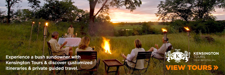 Experience a bush sundowner with Kensington Tours & discover customized itineraries & private guided travel.