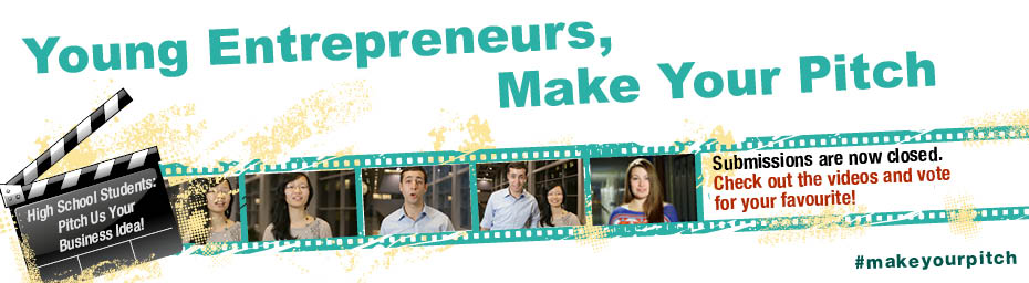Young Entrepreneurs, Make Your Pitch. High School Students: Pitch Us Your Business Idea! Submissions are now closed. Check out the videos and vote for your favourite! #makeyourpitch