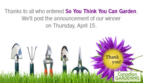 Contests - So You Think You Can Garden