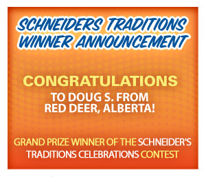 Schneiders Traditions Winner Announcement